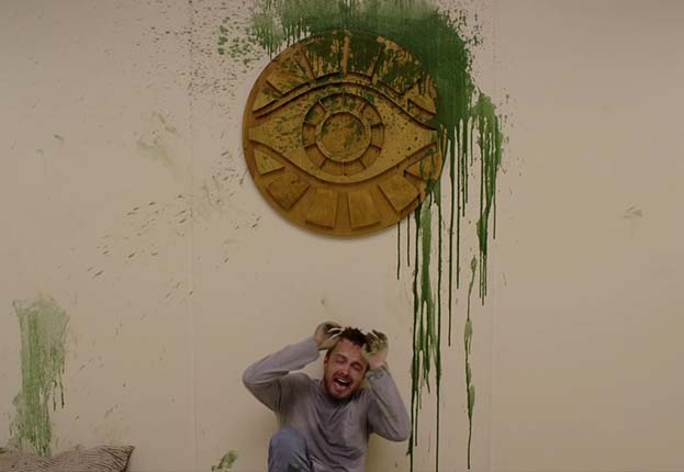 This would never happen if it were the Green Power smoothie. Image: Deadline via Hulu.