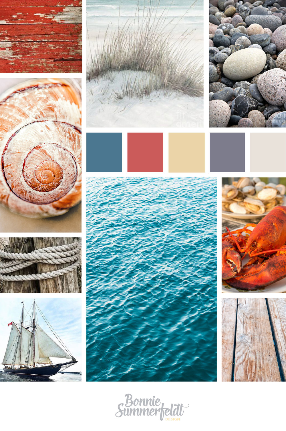 Mood boards are so fun! Especially ones for Nova Scotia lighthouse museums. Here's the look and feel for the Fort Point Museum brand and website.