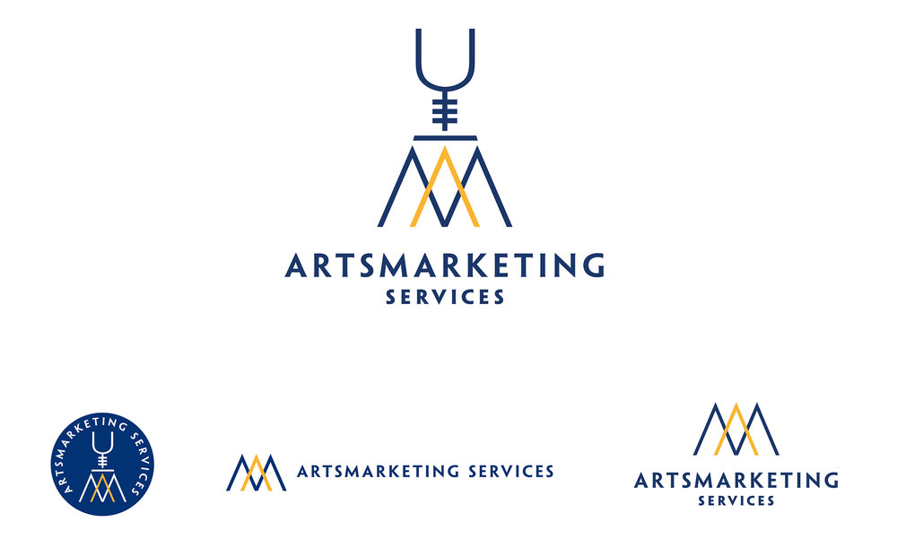 A refreshed logo design for a more modern feel to match the mix of corporate and feminine typography in the new website design for Artsmarketing Services. Telemarketing and fundraising for nonprofits, Toronto, Canada. Design by Bonnie Summerfeldt Design – brand and website design for professional services such as consultants, therapists and advisors where credibility counts. https://bonniesummerfeldt.com