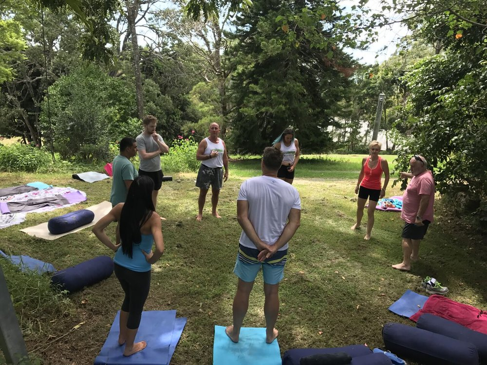 Come join our relaxed outdoor yoga classes on the Gold Coast!