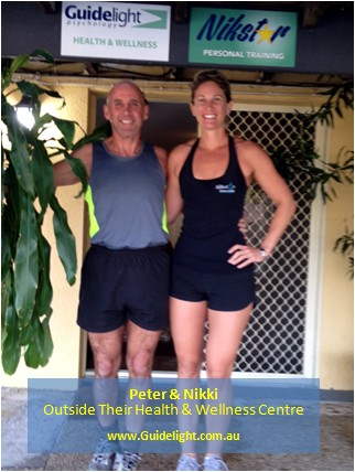 Peter with his personal trainer Nikki