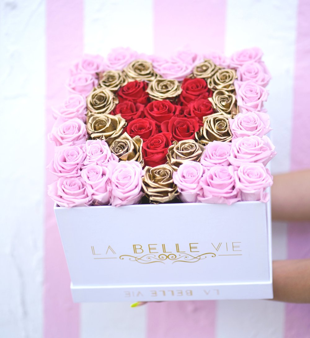 Gold Heart Rose Collection