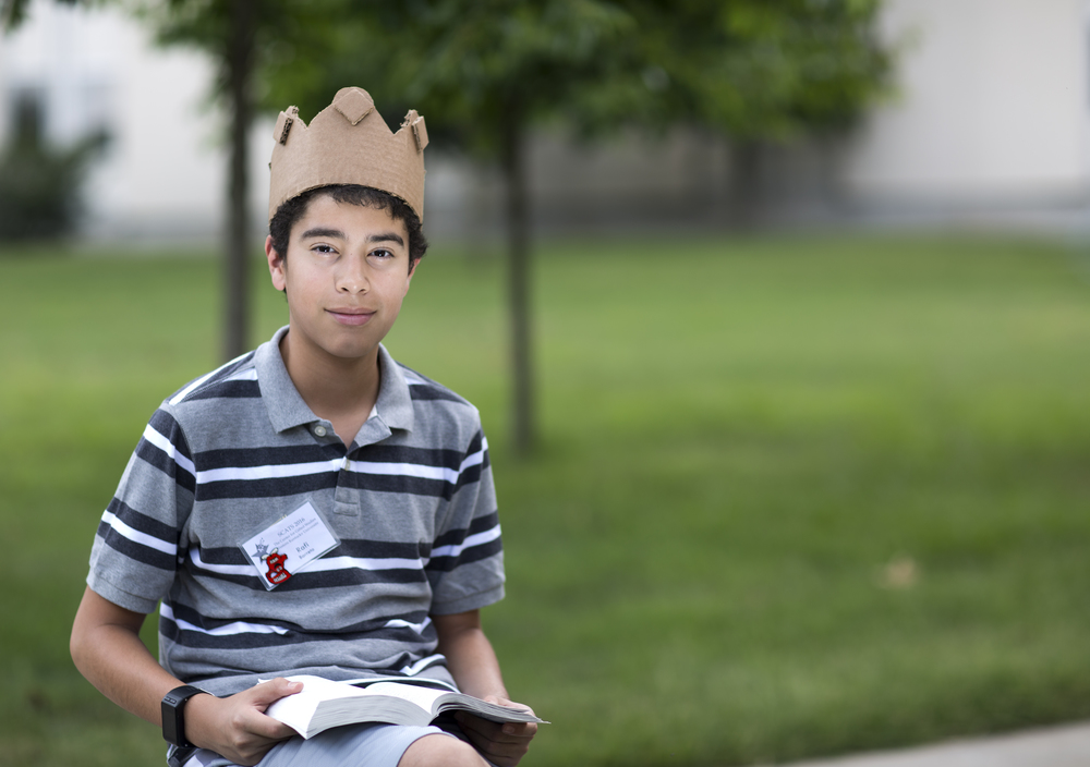 """Coming from Overland Park, Kansas, Rafi Barreto is in his first year at the Summer Camp for Academically Talented Students or SCATS. """"This is the longest time I have spent away from home,"""" he said. """"I thought I would get homesick but I'm not, it's great!"""" on Sunday, June 19, 2016 outside of Northeast hall on Western Kentucky University campus in Bowling Green, Kentucky.  © 2016 Tucker Allen Covey"""