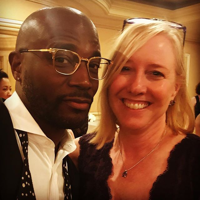 So this happened - a pic with Taye Diggs!!!! I can't think of a better way to close out #mom2summit.