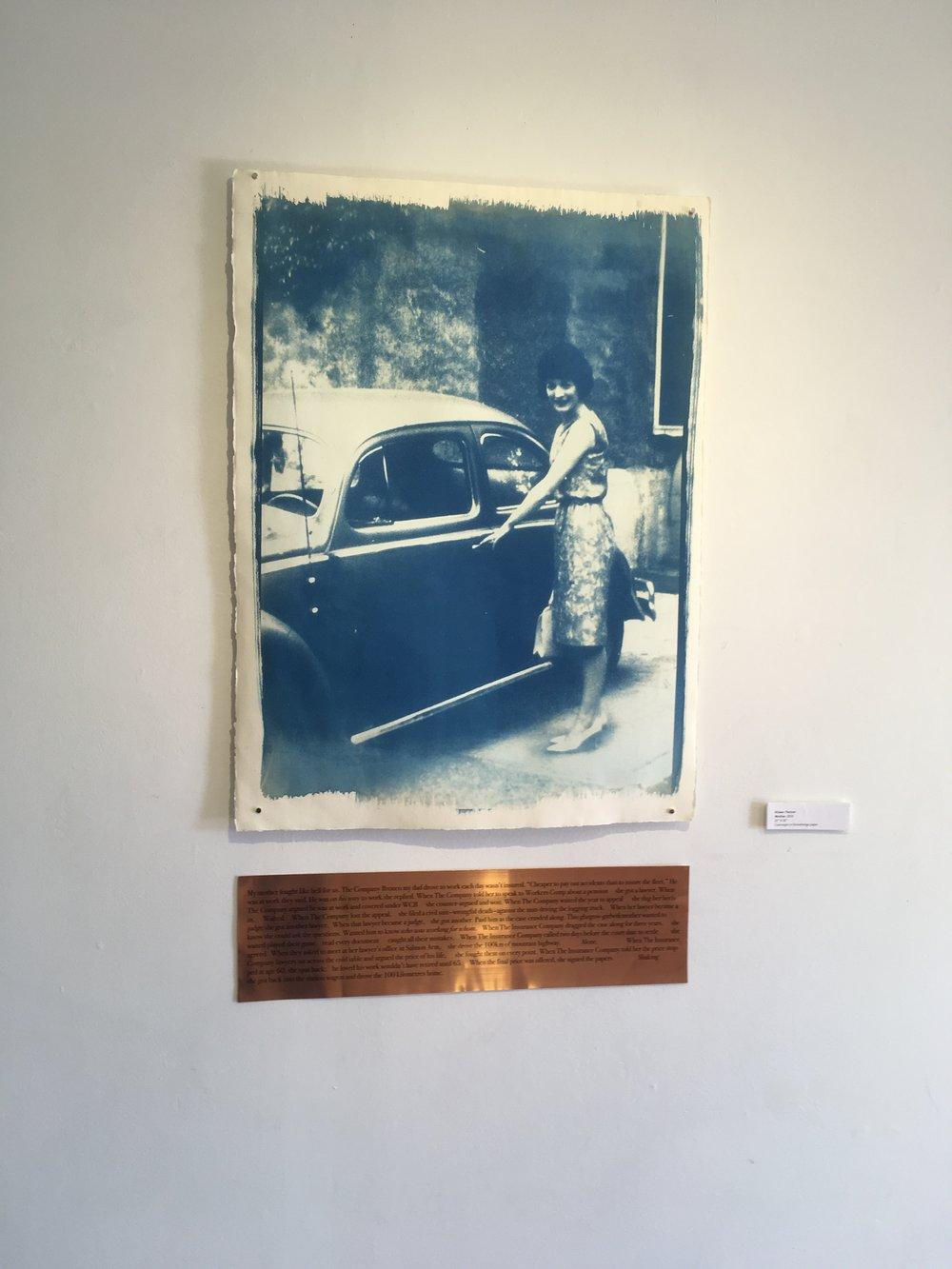"Aileen Penner  Mother  , 2018 22"" X 30"" Cyanotype on Stonehenge paper"