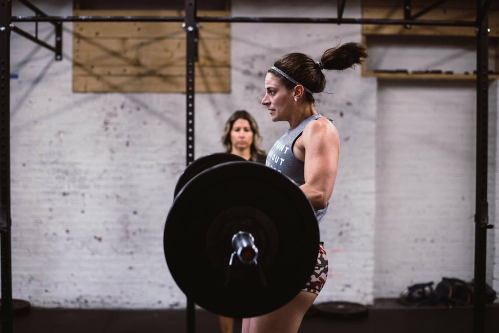 Sallie working on her lifts, and training with purpose.