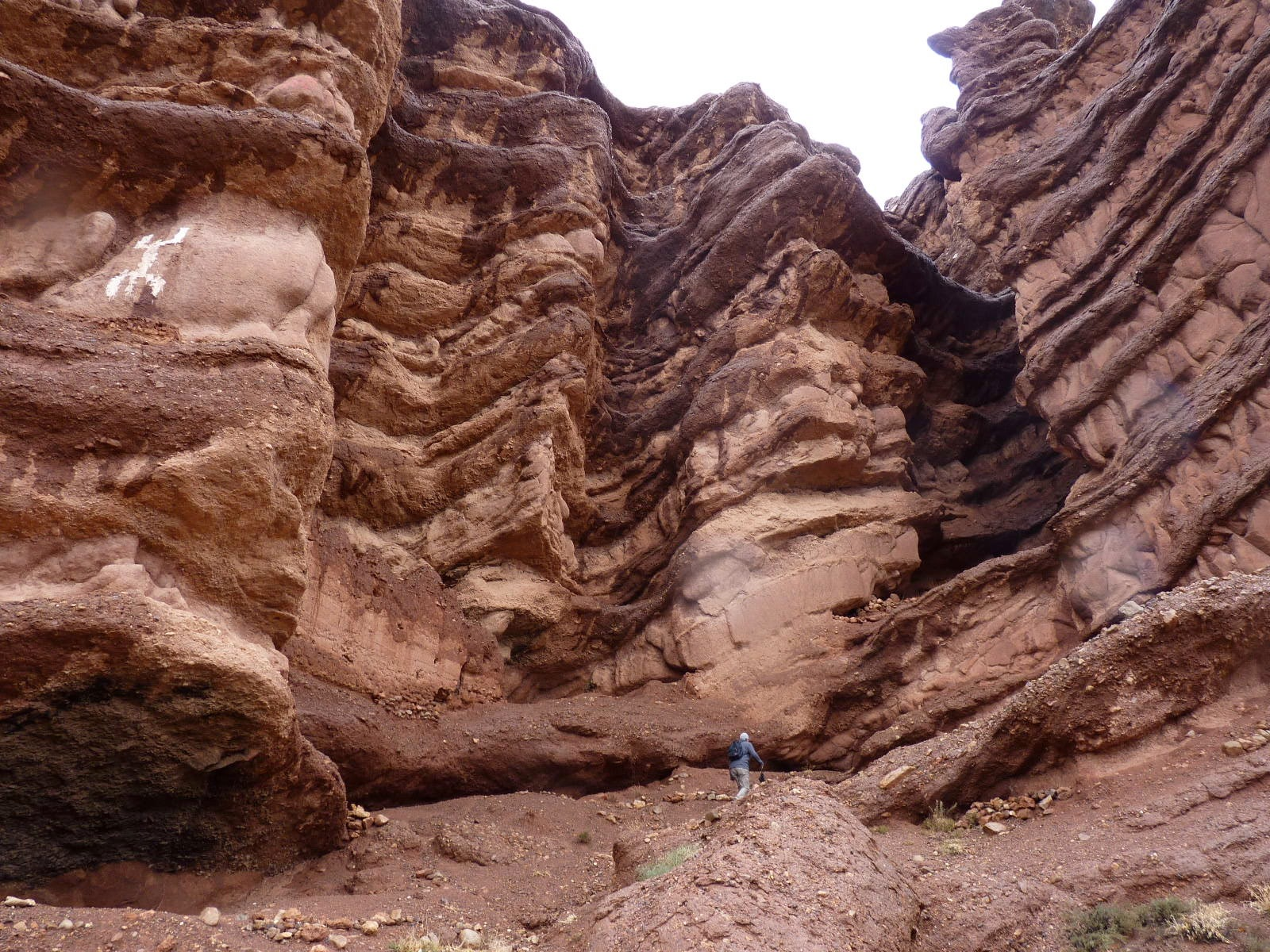 Tiny Jon in the Dades Gorge