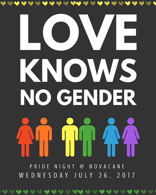 🌈 ITS COMING! ✨ This Wednesday we kick start our highly anticipated #pridenight! To all of those who believe love is love, you are welcome. ❤️ To those of you who were teased for being different, you are welcome. 💛 To those of you still questioning, you are welcome. 💚 To those of you that support, you are welcome. 💙 Novacane has ALWAYS and will ALWAYS have its doors open to the LGBT Community. 💜 #novacane #novacanebar #huntingtonpark #losangeles #drinklocal #loveislove #nogender #lgbt #lgbtpride #lgbtsupport #craftbeer #cocktails #vegetarian #vegan