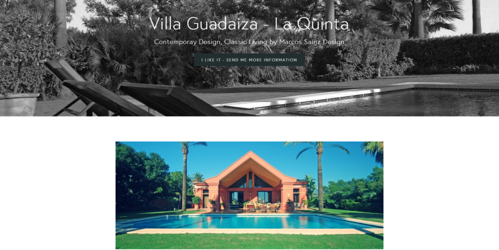 Pagina web de villa en venta Benahavis