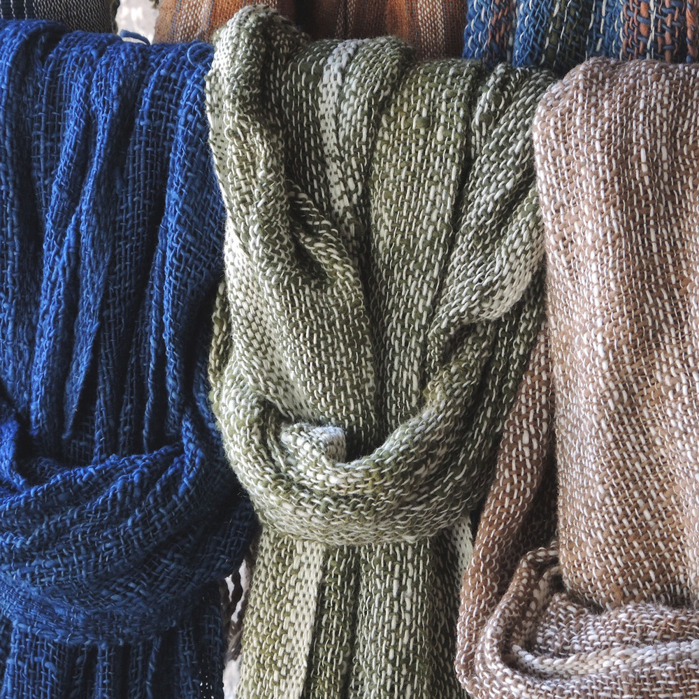 Rustic scarves, two color