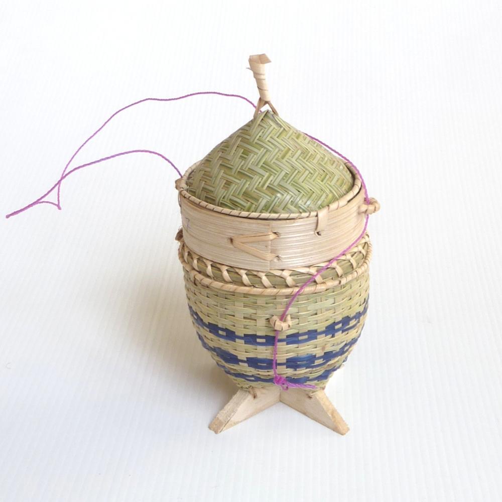 Mini sticky rice basket