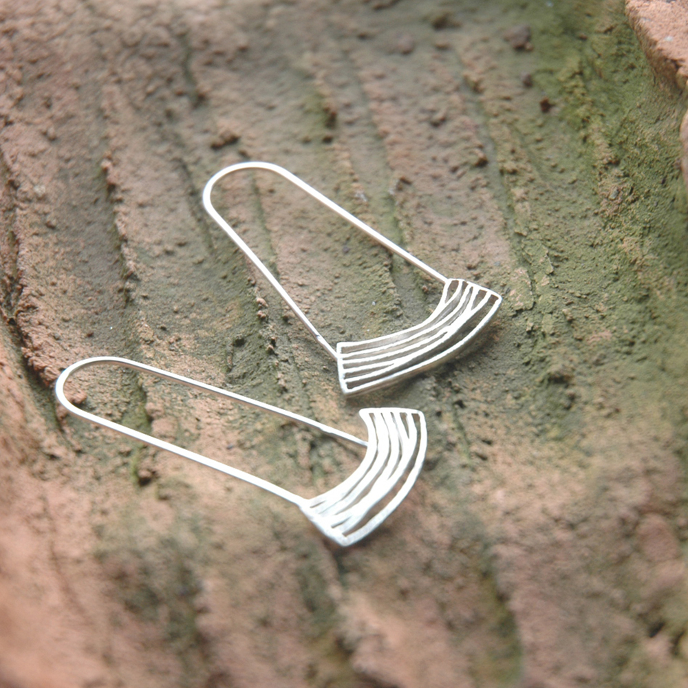 Modern long earrings
