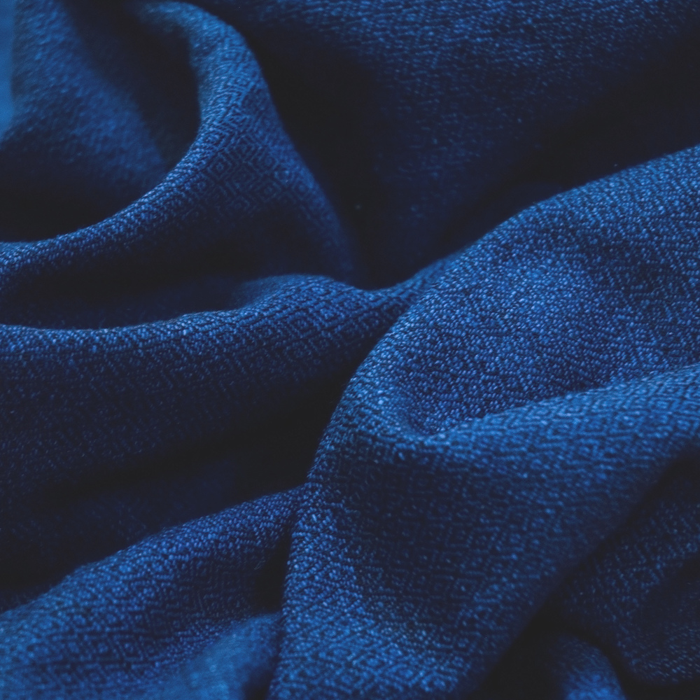 Cotton fabric by the yard, indigo dye