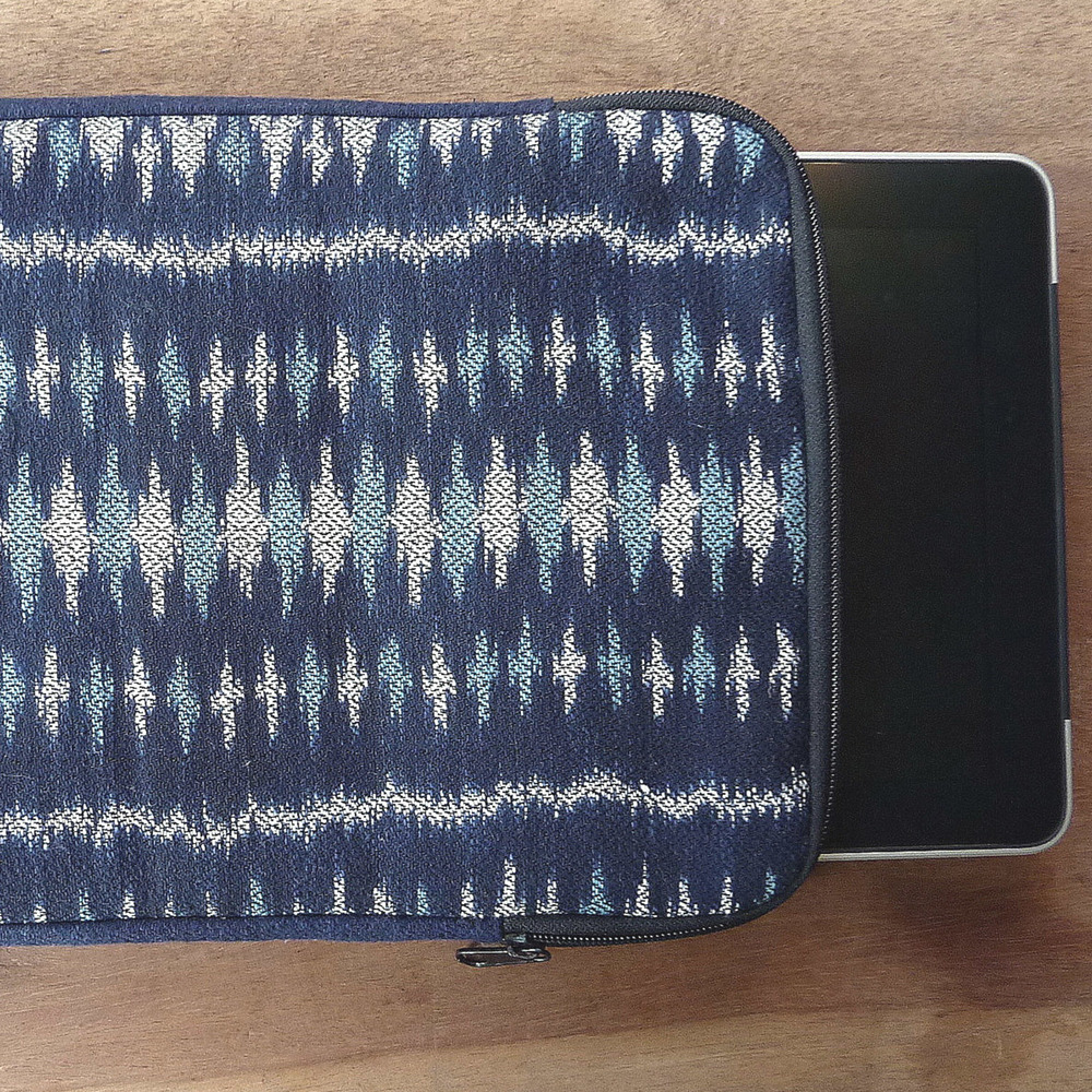 Ikat indigo iPad case