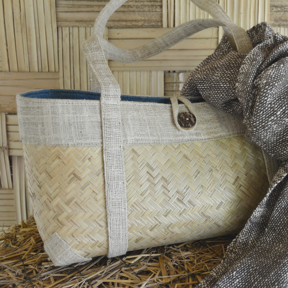 Bamboo and hemp handbag