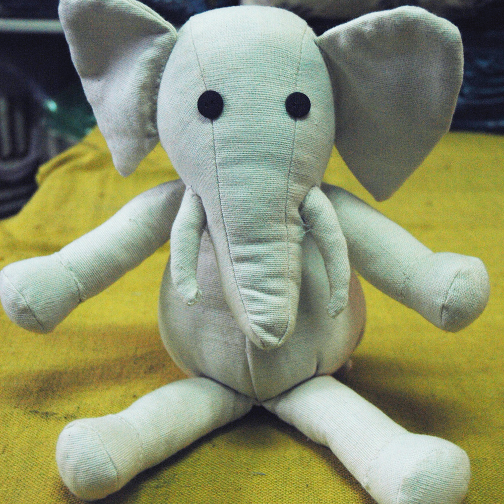 Cotton stuffed elephant toy
