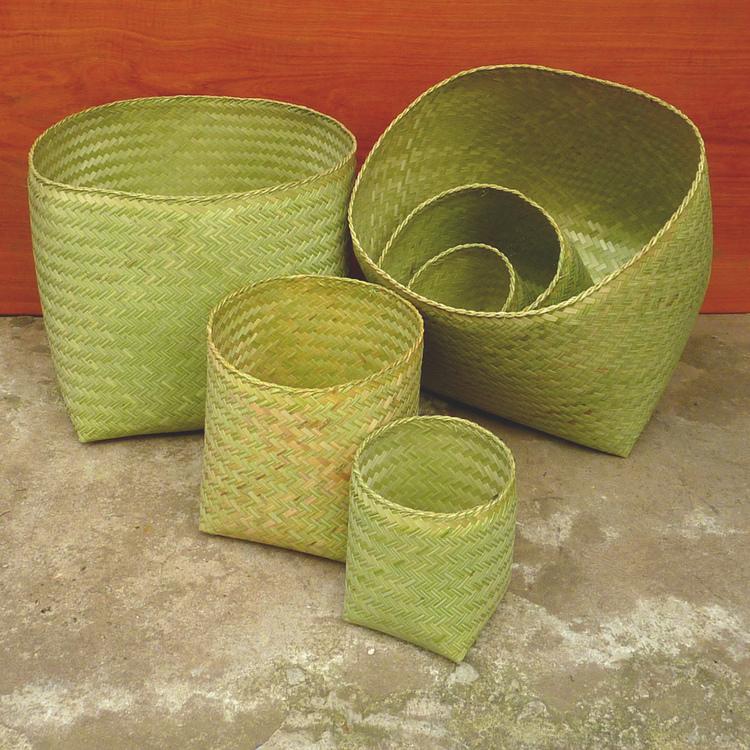 Boîtes en bambou, différentes tailles