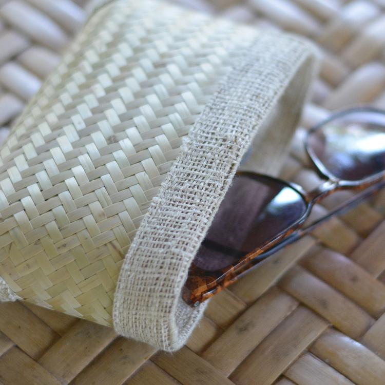 Etui à lunettes en bambou et chanvre
