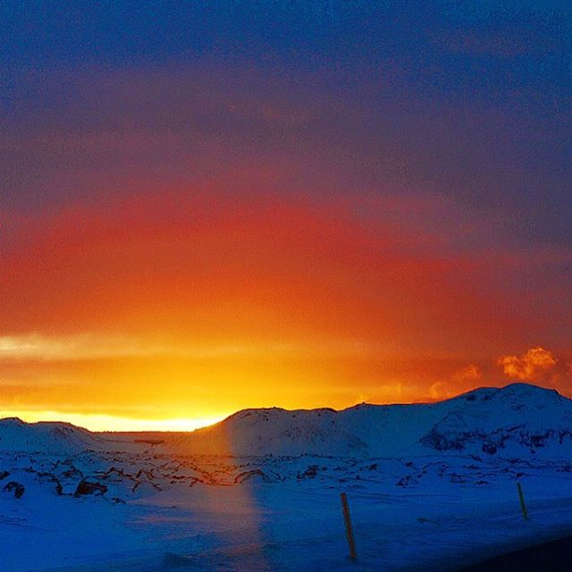This #sunset in #Iceland is so #colorful . #nature #adventure #travel #explore #sun