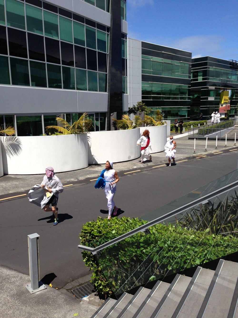 mighty abdominatrics running in business park.jpg