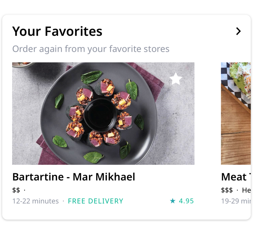 Your favorites - Star your favorite stores to keep them at the top of your screen - for easy access.