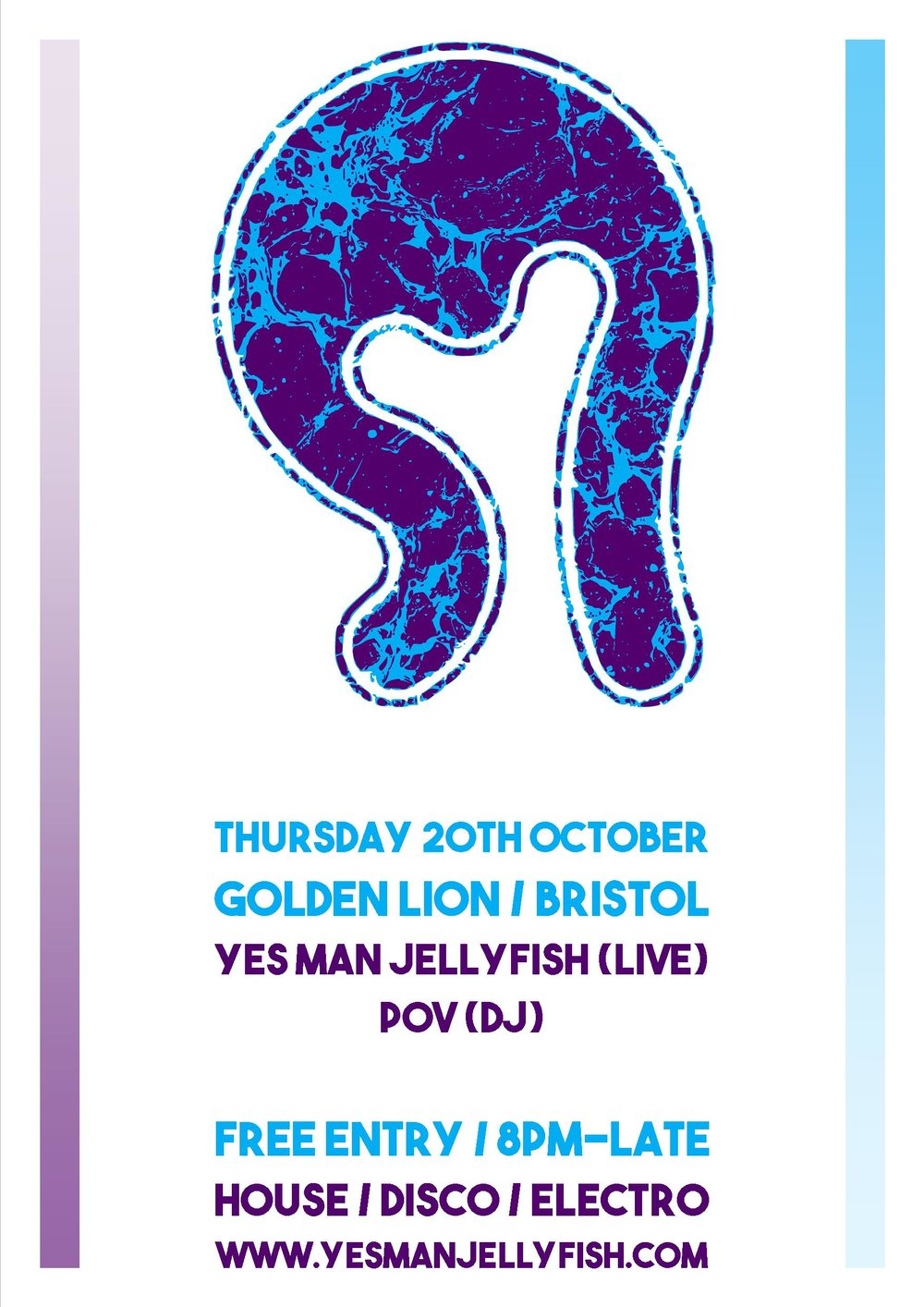 Yes Man Jellyfish Live + POV DJ at The Golden Lion, Bristol