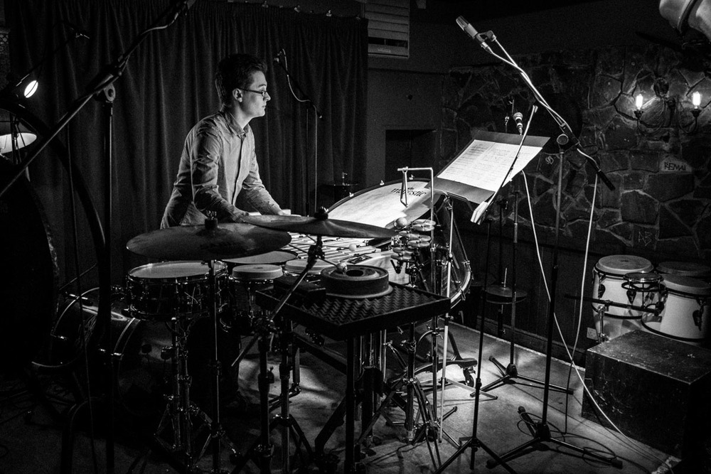 Tom Lee performing at the Nonclassical Pioneers of Percussion festival. Photo ©  Dimitri Djuric .
