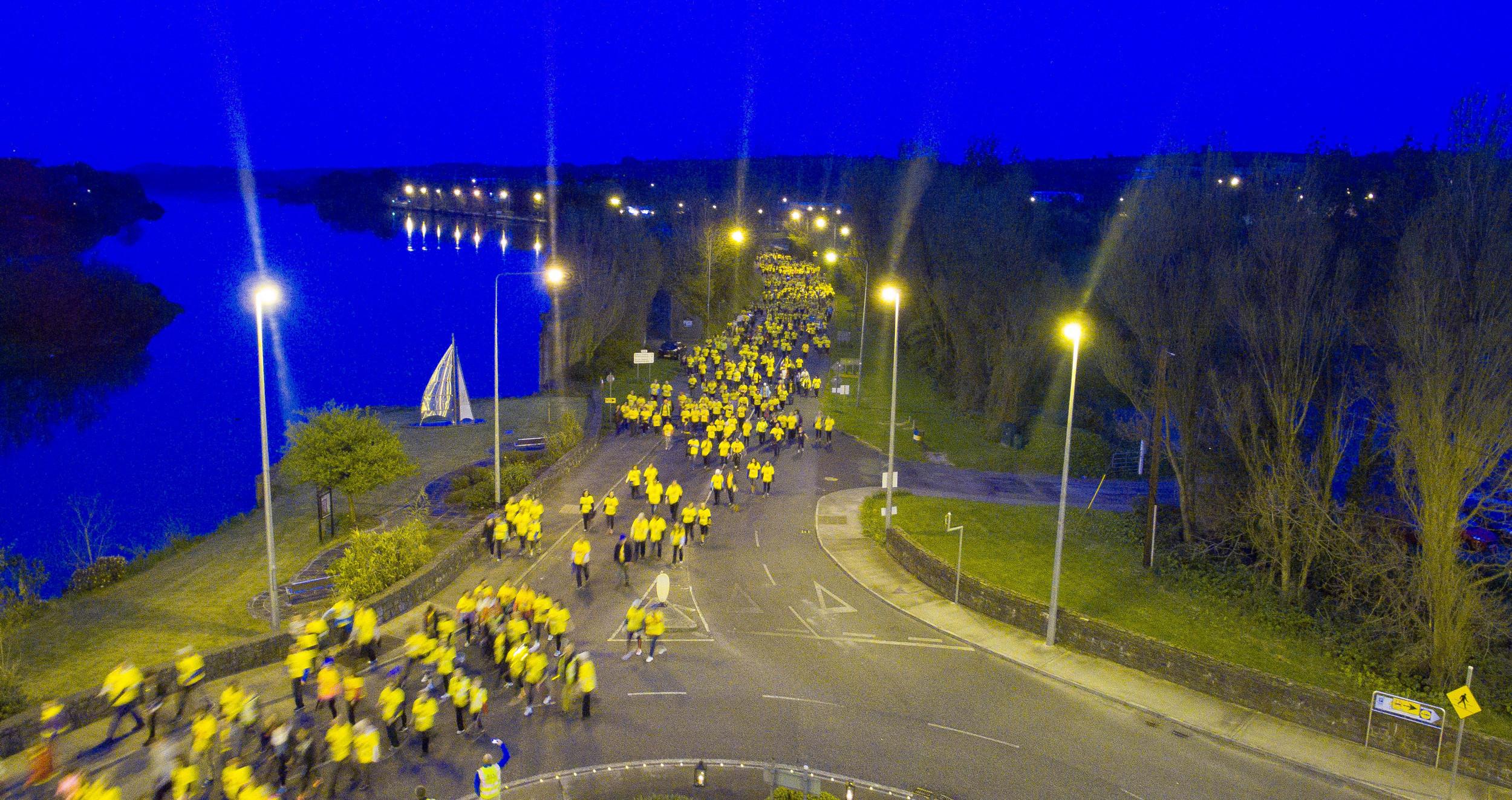 into lighting. 2,500 People Participate In The Inaugural \u201cDarkness Into Light\u201d Walk Aid Of Pieta Lighting
