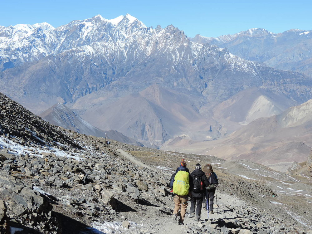 Heading to the village of Muktinath
