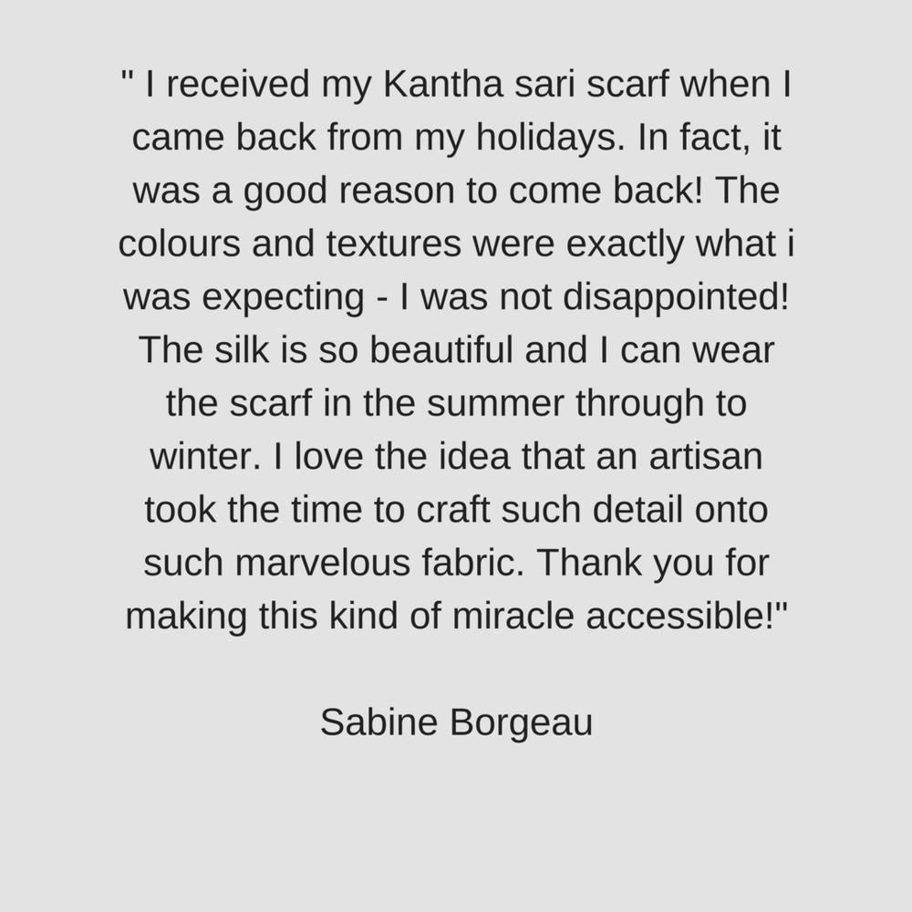 Customer Review of Kantha Sari Scarf