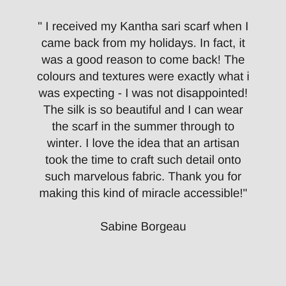 Customer Review of Kantha Sari Scarf