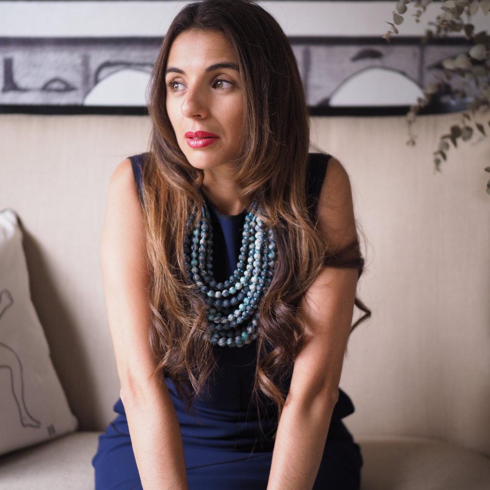 12 String Sari Necklace -Grey Cream