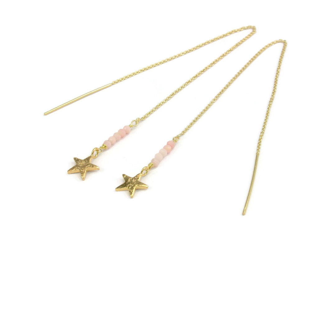 RAW Copenhagen Shooting Star Threader with ethically sourced pink opals and handmade star charms.jpg