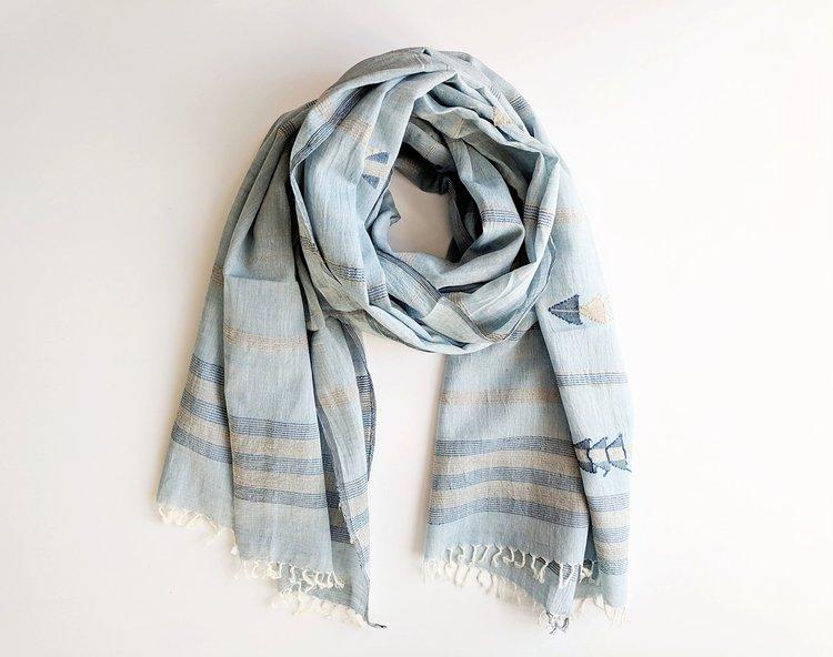 Jamdani scarf - light blue.jpg