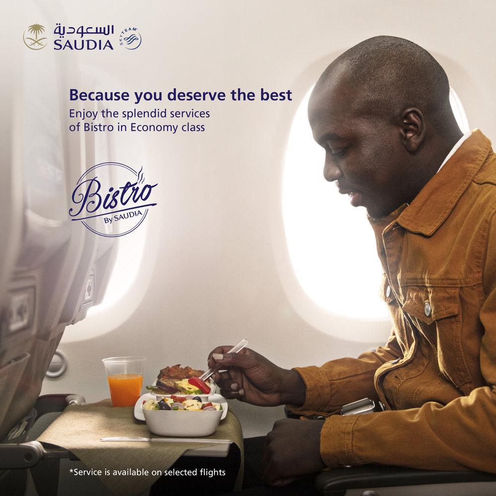 Client - Saudia Airlines | Agency - Focus Ad | Description - OOH 'Bistro' Print Campaign