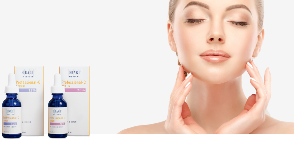 OBAGI Professional C Suncare with Vitamin C, OBAGI C Serum and OBAGI Peptide Complex