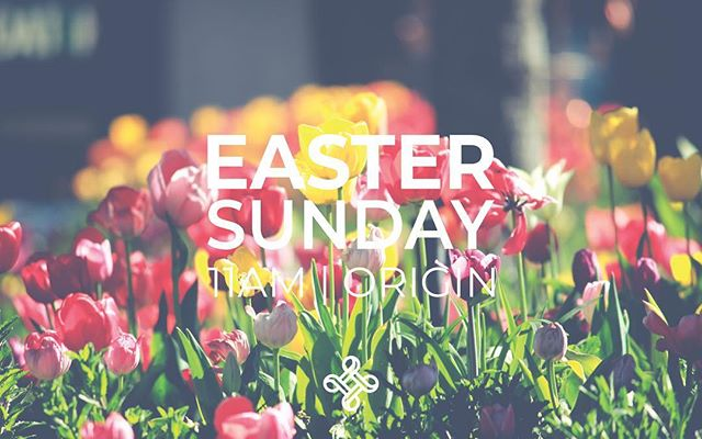 This weekend we gather to celebrate Easter Sunday. Come join us. 11am, @originspace #eastersunday #church #churchasfamily #eucharist #tabling