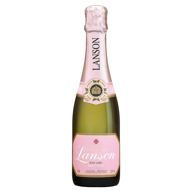 Lanson Brut Rose Champagne NV Half Bottle £17.99