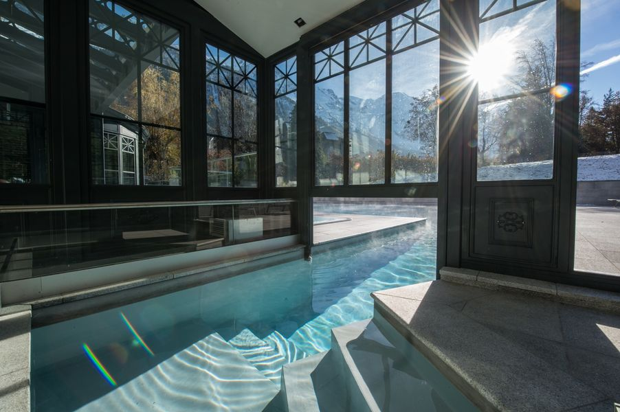 Dream pool, dream view at Hotel Mont Blanc.