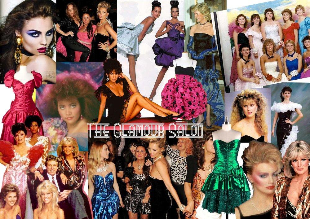The Glamour Salon mood board
