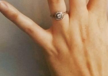 Ellie's stunning vintage diamond.