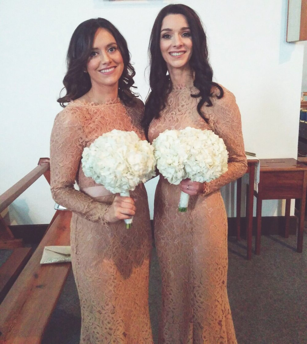 Beautiful bridesmaids wearing Tan Alara for Laura's stunning Irish wedding