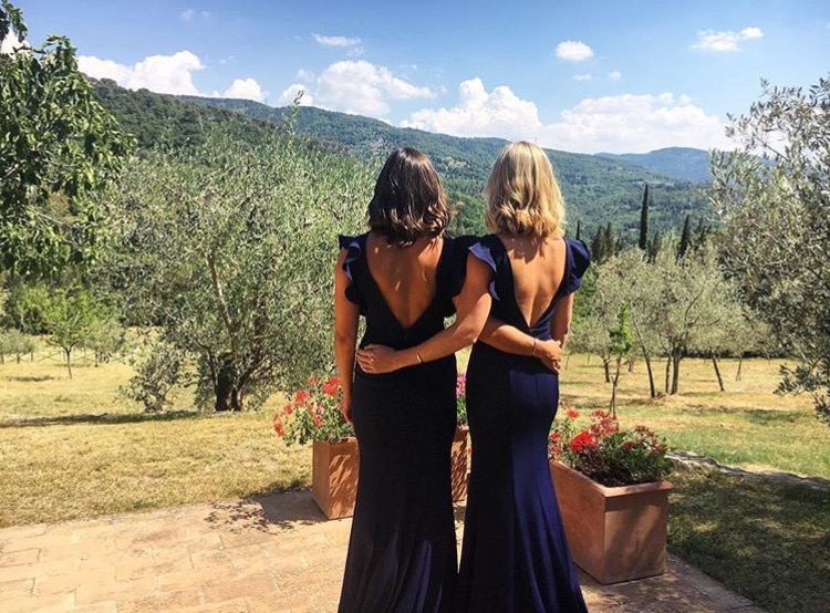 Cecelia gowns for Malin's stunning Italian wedding.