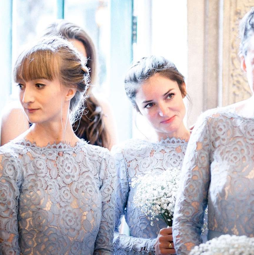 Alara in bluebird for Fran's bridesmaids - Photo -  Paul Liddement
