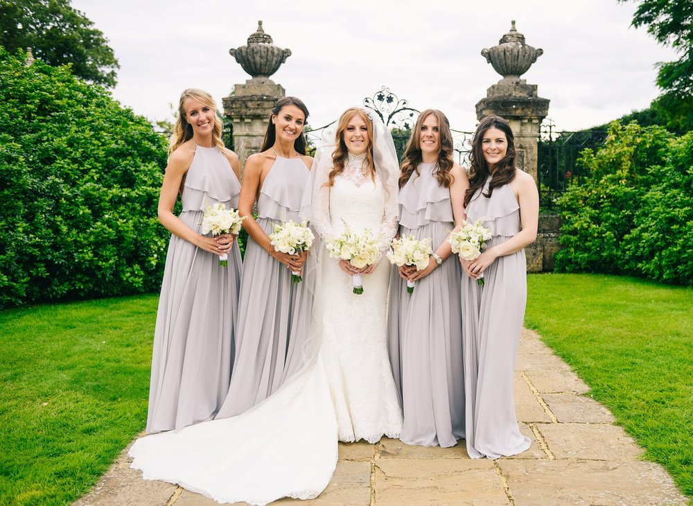Olympia Silver Mist for elegant bride Joelle's best girls. Photo by Team Ptp