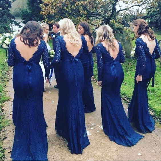 Alara in Navy for Lauren's bridesmaids.