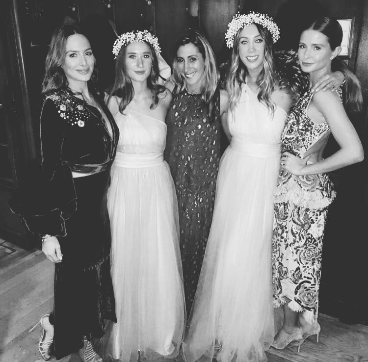 Luna gowns for Emma's best girls. Photo  Millie Mackintosh