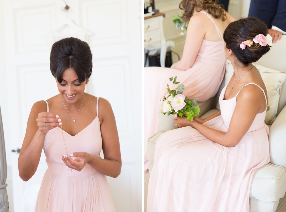 Edie gown in blush for Jen's beautiful bridesmaids - Photo  McKenzie Brown