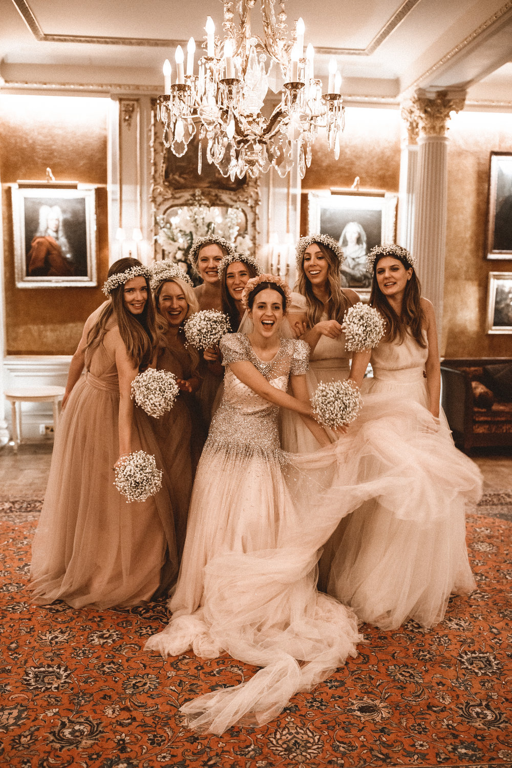 Emma's girls in bespoke Luna gown. Photo -  Benjamin Wheeler