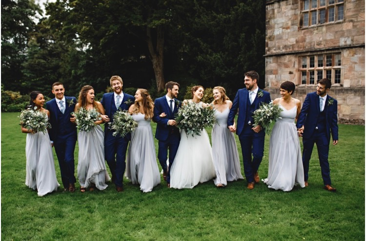 Lauren's gorgeous bridal party, her best girls wearing Edie in Silver Mist - Photo  HBA Photography